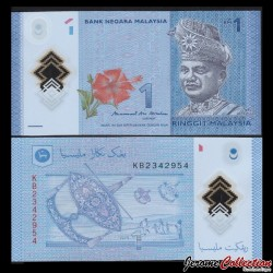 MALAISIE - Billet de 1 Ringgit - Polymer - 2017 P51c