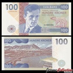 SVALBARD - Billet de 100 Kroner - Helge Ingstad - 2018 0100 - Gabris