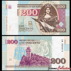 SAINT-MARIN / SAN MARINO - Billet de 200 Lire - 2016