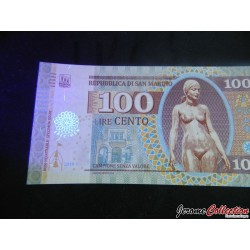 SAINT-MARIN / SAN MARINO - Billet de 100 Lire - 2018