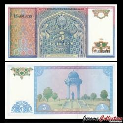 OUZBEKISTAN - Billet de 5 Som - 1994