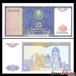 OUZBEKISTAN - Billet de 25 Som - 1994