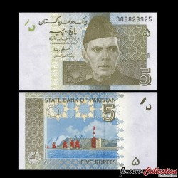 PAKISTAN - Billet de 5 Roupies - 2009 P53b