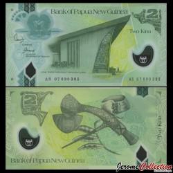 PAPOUASIE NOUVELLE GUINEE - Billet de 2 Kina - Polymer - 2007 P28a