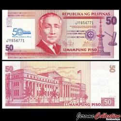 PHILIPPINES - Billet de 50 Piso - 50 ans Société philippine d'assurance-dépôts - 2013 P215a