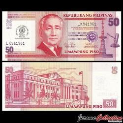 PHILIPPINES - Billet de 50 Piso - 50 ans Université Trinity d'Asie - 2013 P216a