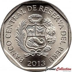 PEROU - PIECE de 1 Sol - Ressources naturelles du Pérou : Le cacao - 2013