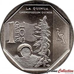 PEROU - PIECE de 1 Sol - Ressources naturelles du Pérou: Le Quinoa - 2013 Km#376