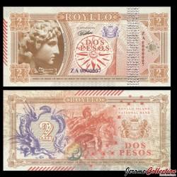 ROYLLO ISLAND - Billet de 2 Pesos - Alexandre le grand - 2018