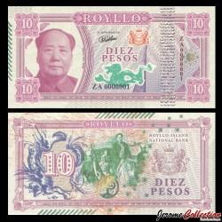 ROYLLO ISLAND - Billet de 10 Pesos - Mao Zedong - 2018