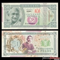 ROYLLO ISLAND - Billet de 50 Pesos - Gandhi- 2018