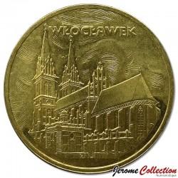 POLOGNE - PIECE de 2 ZLOTE - Villes de Pologne: Wloclawek - 2005