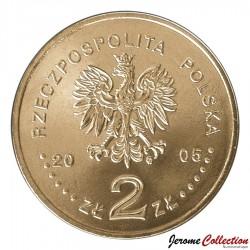 POLOGNE - PIECE de 2 ZLOTE - Centenaire de K. I. Galczynski - 2005