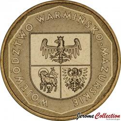 POLOGNE - PIECE de 2 ZLOTE - Voïvodie de Warminsko-Mazurskie - 2005 Y#614