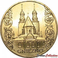 POLOGNE - PIECE de 2 ZLOTE - Villes de Pologne: Gniezno - 2005