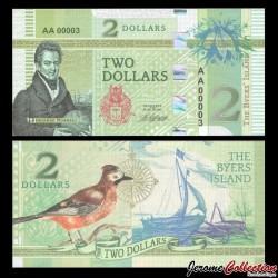 BYERS ISLAND - Billet de 2 Dollars - Oiseau - 2018