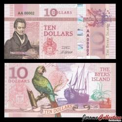 BYERS ISLAND - Billet de 10 Dollars - Oiseau - 2018