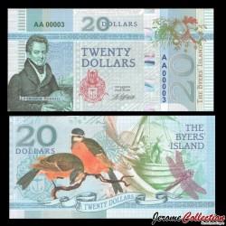 BYERS ISLAND - Billet de 20 Dollars - Oiseau - 2018