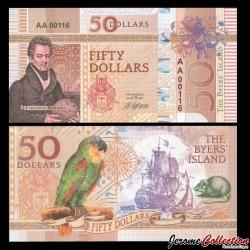 BYERS ISLAND - Billet de 50 Dollars - Oiseau - 2018