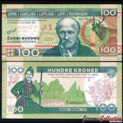 LAPONIE - Billet de 100 Kroner - Johan Turi - 2017
