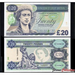GRANDE BRETAGNE - Billet de 20 Pounds - Princesse Margaret - 2014 0020 - Gabris