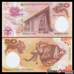 PAPOUASIE NOUVELLE GUINEE - Billet de 20 Kina - 35 ans de la banque - 2008