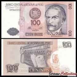 PEROU - Billet de 100 Intis - 26.06.1987 P133a