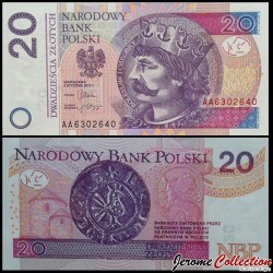 POLOGNE - Billet de 20 Złotych - Boleslas Ier de Pologne - 05.01.2012 P184a