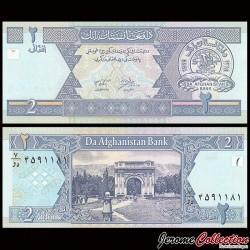 AFGHANISTAN - Billet de 2 Afghanis - 2002