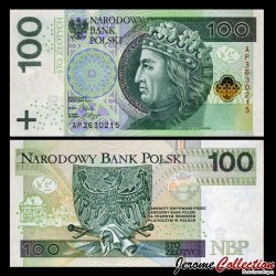 POLOGNE - Billet de 100 Złotych - Ladislas II Jagellon - 05.01.2012