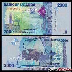 OUGANDA - Billet de 2000 Shillings / Shilingi - Poisson - 2010