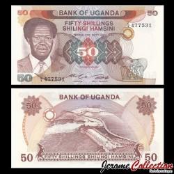 OUGANDA - Billet de 50 Shillings / Shilingi - Président Apollo Milton Obote - 1985