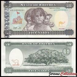 ERYTHREE- Billet de 5 Nakfa - Jacaranda - 24.05.1997