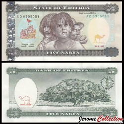 ÉRYTHRÉE - Billet de 5 Nakfa - Jacaranda - 24.05.1997