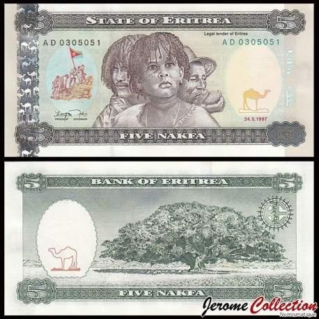 ERYTHREE - Billet de 5 Nakfa - Jacaranda - 24.05.1997 P2a