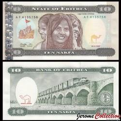 ÉRYTHRÉE - Billet de 10 Nakfa - Train de marchandises - 24.05.1997