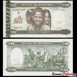 ERYTHREE- Billet de 20 Nakfa - 24.05.1997