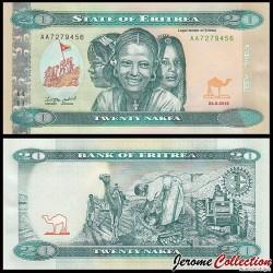ÉRYTHRÉE - Billet de 20 Nakfa - 24.05.2012