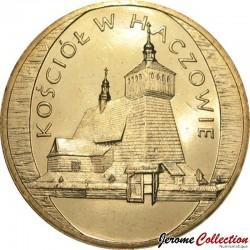 POLOGNE - PIECE de 2 ZLOTE - Monuments de la culture polonaise: L'église de Haczów - 2006