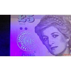 PAYS DE GALLES / WALES - Billet de 5 Pounds - Lady Diana - 2016