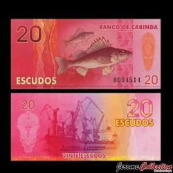 CABINDA - Billet de 20 ESCUDOS - Poisson - Chalutier - 2013