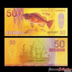 CABINDA - Billet de 50 ESCUDOS - Poissons - Chalutier - 2013 0050
