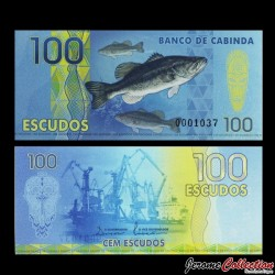 CABINDA - Billet de 100 ESCUDOS - Poissons - Chalutier - 2013