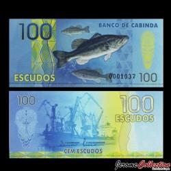 CABINDA - Billet de 100 ESCUDOS - Poissons - Chalutier - 2013 0100