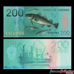 CABINDA - Billet de 200 ESCUDOS - Poissons - Chalutier - 2013