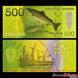 CABINDA - Billet de 500 ESCUDOS - Poissons - Chalutier - 2013