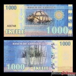 CORISCO - Billet de 1000 EKUELE - Tortue - Baobab - 2013 001000