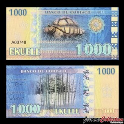 CORISCO - Billet de 1000 EKUELE - Tortue - Baobab - 2013