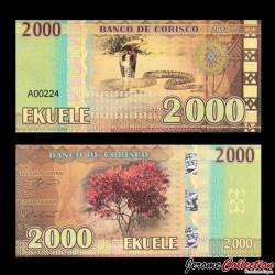 CORISCO - Billet de 2000 EKUELE - Cobra - Flamboyant- 2013