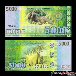 CORISCO - Billet de 5000 EKUELE - Baobab - Mangouste - 2013 005000